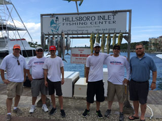 The fishing team: Greg Loomis, John Heitz, Mark Knysh, Jeremy Knysh, Andrew Knysh, and Jamey Bennett.