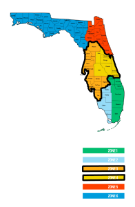 Service areas in Central Florida