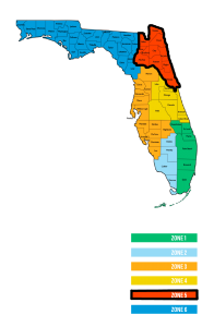 Service Areas in Northern Florida